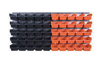 52 teiliges SET Lagersichtboxenwand Stapelboxen mit Montagewand Werkzeugwand