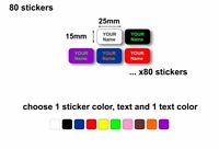 80 adesivi adesivo sticker personalizzati scuola bambino etichette bambina