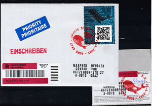 ECHT gelaufener ERSTTAGSBRIEF mit Aufgabeschein Crypto Stamp 3.0