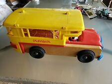 Vintage Playskool Bus. Toy  wood and plastic
