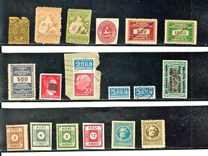 GERMANY LOT OF 18 OLD MOST USED STAMPS OR CINDERELLAS