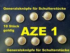 10 x oiginal DDR NVA stasi Vopo General spalla sportelli Metallo Bottoni Oro colorate
