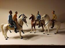 Vintage Hartland Horse Rider Series Lone Ranger & Tonto 4 horse 4 figures 8 inch