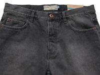 New Mens Dark Grey Black Slim Crop NEXT Jeans Size 34 Regular L27£40 LABEL FAULT