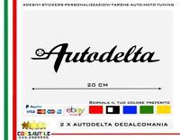 2x adesivo Autodelta Alfa Romeo quadrifoglio auto vinile sticker tuning elabora