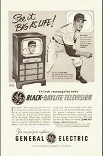 1951 Vintage ad for General Electric Black-Daylite Television (041814)