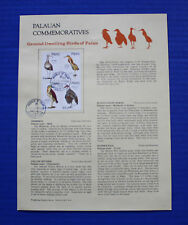 Palau (190a) 1988 Ground Dwelling Birds Souvenir Page