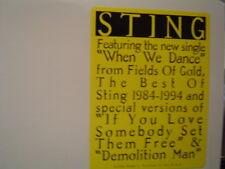 "STING When We Dance / If You Love Somebody / Demolition Man 2 X12"" DJ  PROMO"