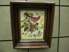 Antique Victorian Frame w/ Wildlife and Floral Scene