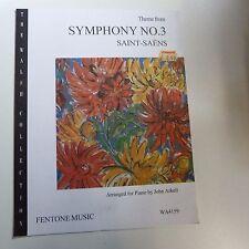 piano duet SAINT SAENS Theme from Symphony No 3 arr John Arkell, Fentone