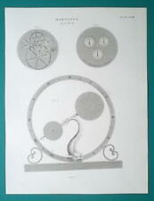 HOROLOGY Clocks Dial Work - 1815 Antique Print by A. REES