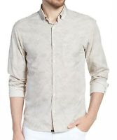 Billy Reid Men's Long Sleeve Kirby Button Down Pocket Shirt Italy Nat/Brown XL