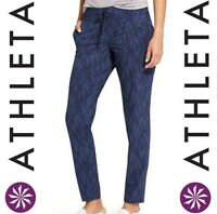 ATHLETA WOMEN'S SIZE 4 STRIDE MIDTOWN ANKLE PANTS NAVY BLUE WITH POCKETS *EUC*