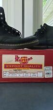 Vintage Dr. Doc Martens Black Leather 8 Eye Boots UK 5/ US Men 6/ Wm 7