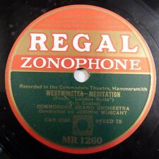 78rpm COMODORE ORCH JOSEPH MUSCANT westminster / in town tonight, REGAL MR1260