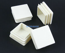 40 Pieces 38x38mm White Square Plastic Insert Cap Tube End Cover Cap