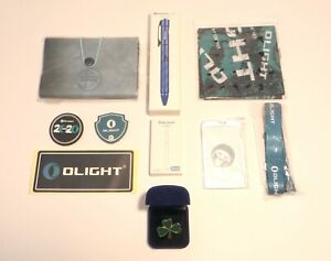 OLIGHT OPEN 2 BLUE + Collector Bundle Notebook Multitool Patches Lanyard Sticker