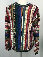 VTG 90s COTTON TRADERS Sweater Hip Hop 3D Baggy Textured Cosby Biggie Mens XLT