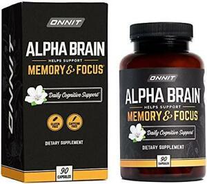 ONNIT Alpha Brain (90ct) - Over 1 Million Bottles Sold - Premium Nootropic Brain