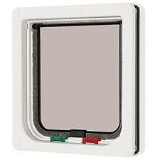 More details for cat mate 4-way magnetic cat flap - white lockable cat door for medium sized cats