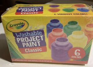 Crayola Washable Project Paint 6 Colors (2 Fluid Ounces Each)