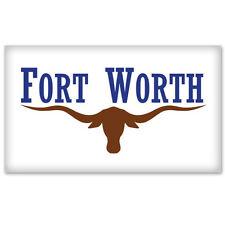 "New listing Fort Worth Texas Flag bumper sticker decal 5"" x 3"""