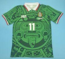 Mexico Retro Jersey Cuauhtémoc Blanco Size XL World Cup 1998 Home Camiseta