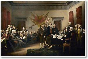 John Trumbull 1819 - Declaration of Independence - NEW Fine Art Print POSTER