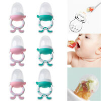Baby Teether Fruits Feeder Infant Fresh Food Pacifier Nipple Silicone Teething