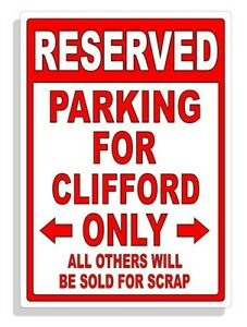 Personalized Parking Sign Wall Decal Metal Sign No Parking Customized CLIFFORD