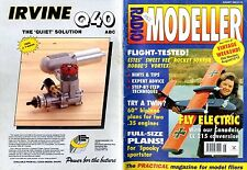 RADIO MODELLER MAGAZINE 1995 AUG D WOODWARD'S SPOOKY FREE PLANS, SWEET VEE