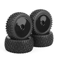 4X 90mm Rubber Front&Rear Tires Wheel Rim For HSP HPI RC 1:10 Buggy Off-Road Car