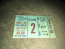 New York Giants vs Washington Redskins Oct 27 1957 Yankee Stadium Ticket Stub