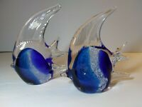 "(2) Art Glass Angel Fish...""Beautiful"""