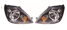 Ford Fiesta MK6 & ST 2005-2008 Grey Front Headlight Headlamps Pair Left Right