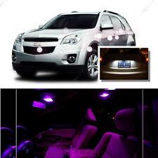 For Chevy Equinox 2010-15 Pink LED Interior Kit + Xenon White License Light LED