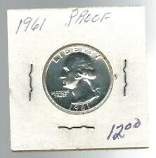 1961 USA Washington Quarter 25 cent coin Proof