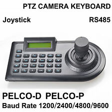 3D Joystick PTZ Camera Keyboard Controller RS485 PELCO-D/PELCO-P w/ LCD Display
