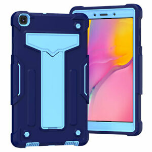 For Tab A 8.0 10.1 2019 Hard Plastic Rubber Military Kids Protective Stand Cover