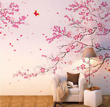 Cherry Blossom Wall Decal Pink Flower Tree Wall Decal For Nursery Decoration