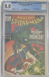 Amazing Spider-Man #78 1st Appearance The Prowler Romita & Stan lee 1969 CGC 8.0