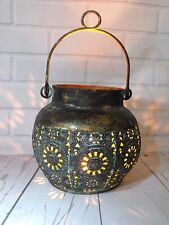 MOROCCAN LANTERN CANDLE HOLDER ANTIQUE COPPER METAL # MOROCCAN STYLE LANTERN NEW