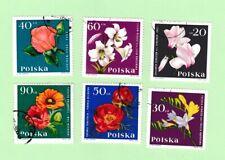 Pologne lot de 48 timbres les fleurs