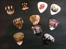 Pack Of Ten Guitar Picks Plectrums & Band Stickers PLUS 5 Facsimile Autographs