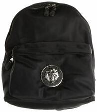 New Versus Versace Black Lion Head Leather Backpack Unisex