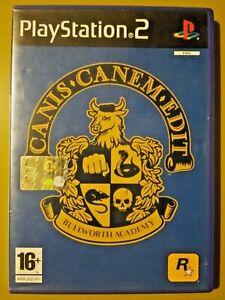 Canis Canem Edit - PS2 Playstation2 - ROCKSTAR PAL ITA - LEGGERE DESCRIZIONE!!!