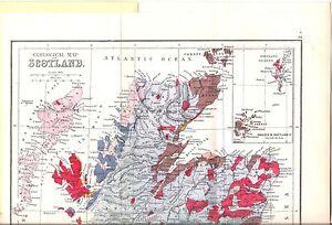 Antique map, Scotland