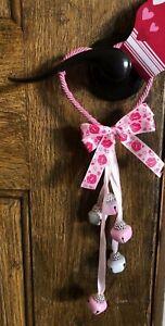 """Valentines Door Knob Hanger Heart Bells Decor 12"""" New"""