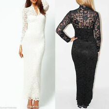 V-Neck Party Long Sleeve Floral Dresses for Women