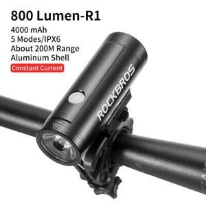 RockBros Bicycle Headlight USB Rechargeable Waterproof 400-800 Lumens